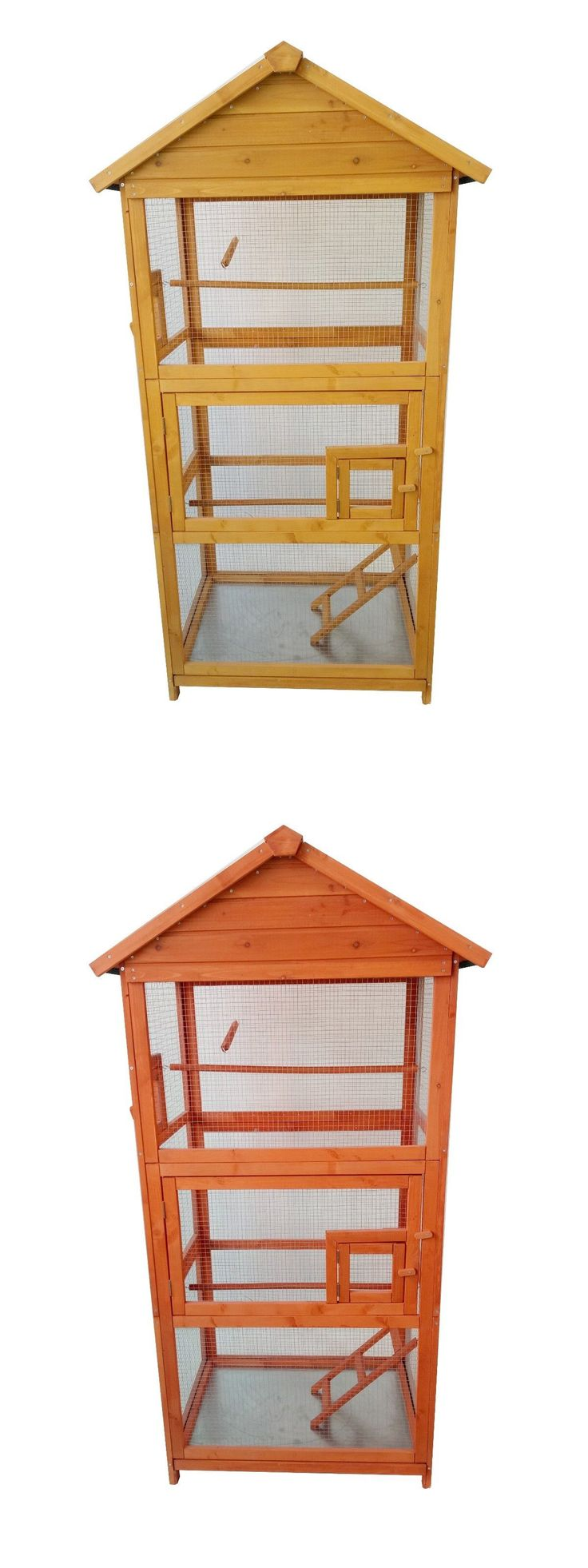 Cages 46289: Mcombo 70 Wood Bird Cage Parrot Finch Cockatoo Macaw Aviary Pet Play House -> BUY IT NOW ONLY: $98.99 on eBay!