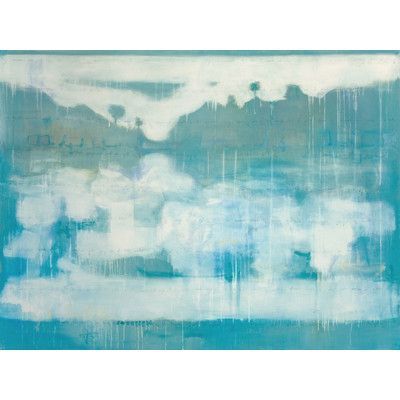 "Art Excuse Blue Placid Lake #2 by Julie Montgomery Original Painting on Wrapped Canvas Size: 30"" H x 45"" W x 1.5"" D"
