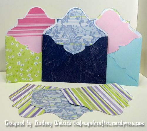Here is a fancy envelope and liner that you can cut with your Cricut if You have Sure Cuts a Lot (SCAL) software: This envelope can be re-sized however you like. To re-size it stretch it out to t...