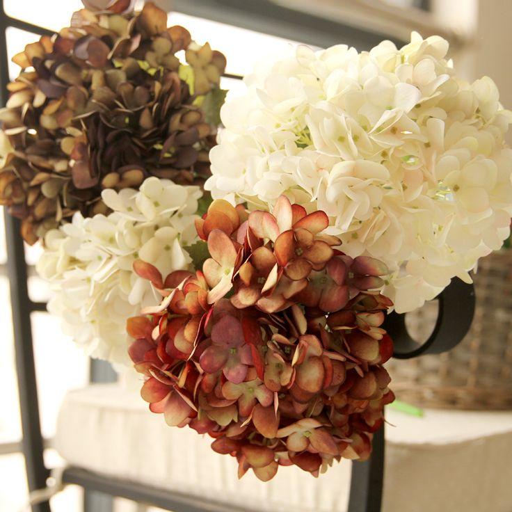 wedding centerpieces fake flowers%0A Home Decorative Display Fake Silk Flowers High Grade Artificial Vintage Big  Hydrangeas for Wedding Holiday