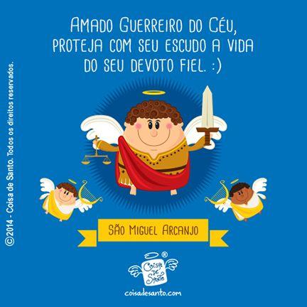 São Miguel Arcanjo! #coisadesanto #jesuscristo