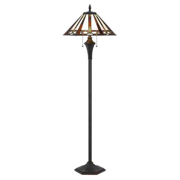 Tiffany Floor Lamp 60w X 2 Blue
