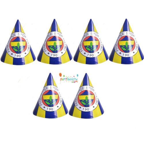 Fenerbahçe Şapka Fenerbahçe Karton Şapka Ürün ÖzellikleriÜrün Paketinde 6 Adet Fenerbahçe Şapka bulunuyor.Karton Şapka Kaliteli ve canlı renklerdedir.Fenerbahçe temalı şapkalar kartondan üretilmiştir.Doğum günü partilerinin vazgeçilmez bir ürünü olup çocuklara dağıtabilirsiniz. Farklı Fenerbahçe Tema