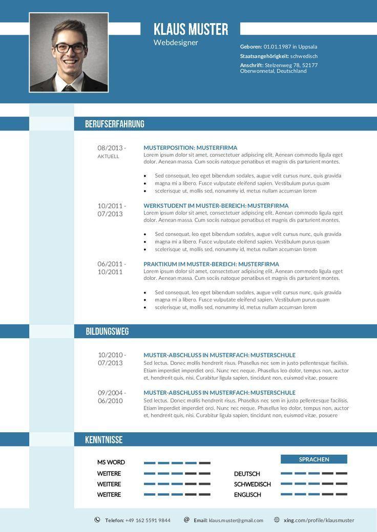 Cv Template Xing Cvtemplate Template Resume Examples Cv Template Resume