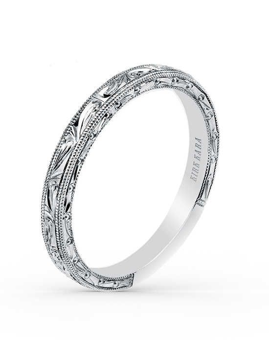 Kirk Kara Carmella Collection K1010-B White Gold Wedding Ring