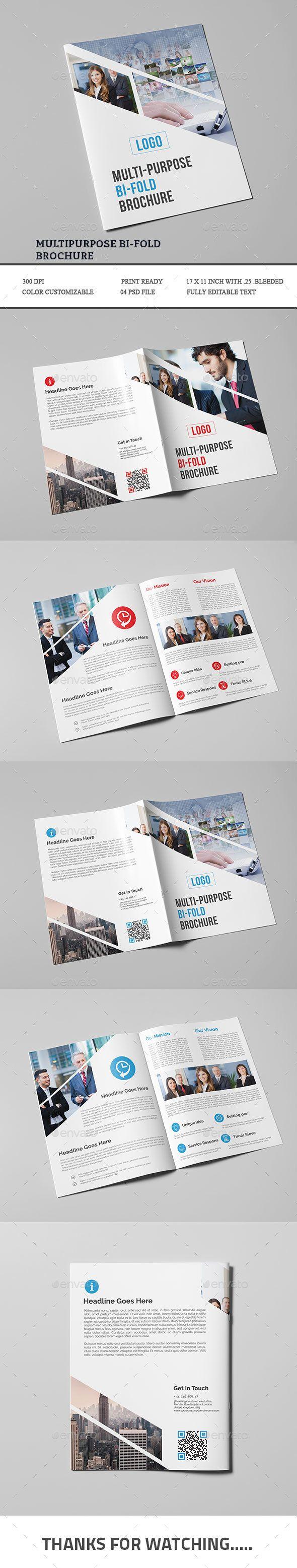 proposal report template%0A Multipurpose Bifold Brochure