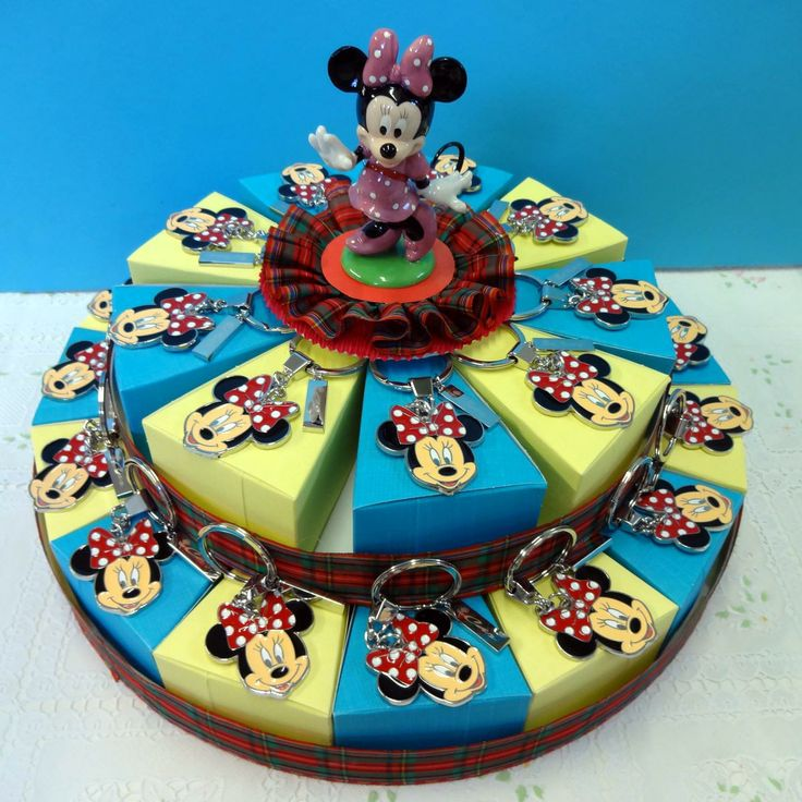 Italian Favor Cake with Disney Minnie Mouse, 24 boxes http://www.tortebomboniere.com/bomboniere/walt-disney-favor-cake.html