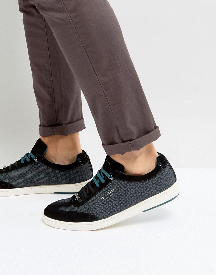 Ted Baker Kiefer Geometric Print Sneakers - Black