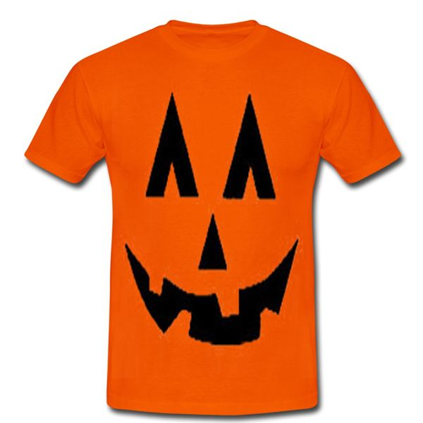 halloween pumpkin face orange tshirt