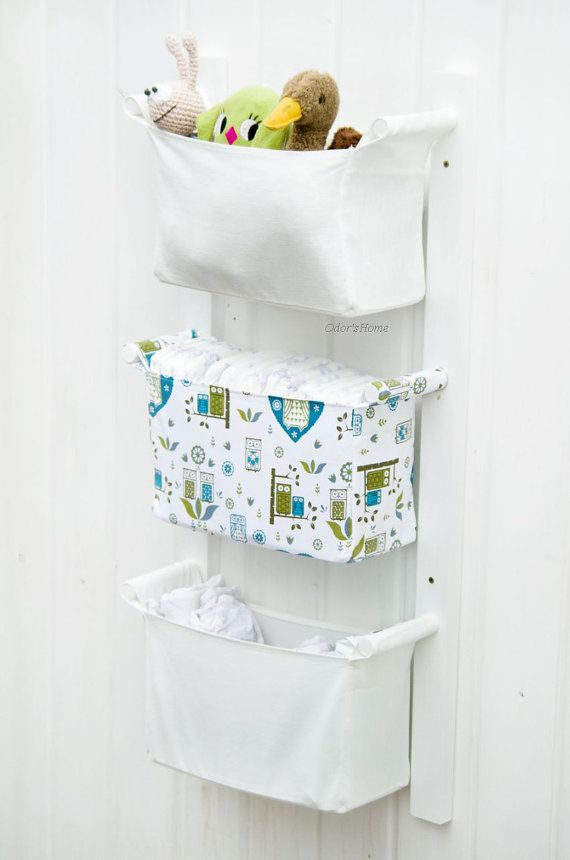 Baby Room Organizer  Nursery Storage Bins  Fabric Nursery