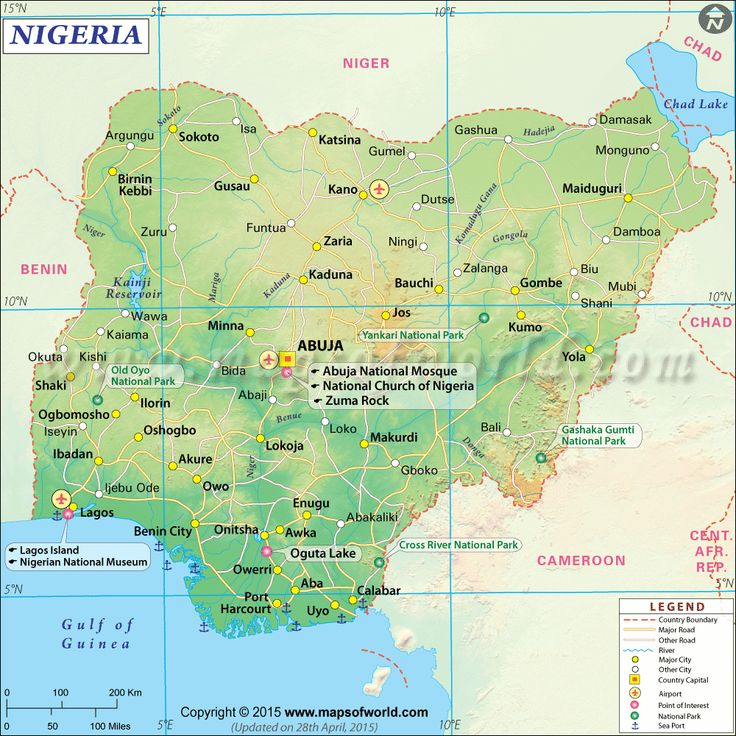 Nigeria Map  Beneatha will probably need a map when she goes to Nigeria.
