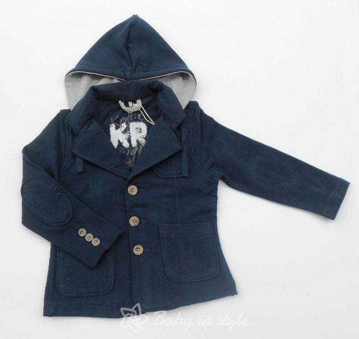 VĚTŠÍ CHLAPEČCI 3 - 7 let | Saka a mikiny | Šedivé sako s kapucou | originální a kvalitní design pro děti