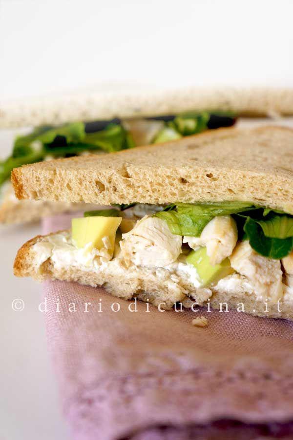Sandwich di Pollo e Avocado - Diario di Cucina. Expat-Mamma in Francia