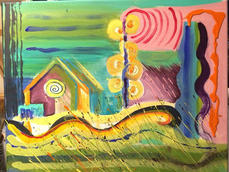 "I call this ""Saskatchewan"", wind blown global warming version. Acrylic on canvas 2015"