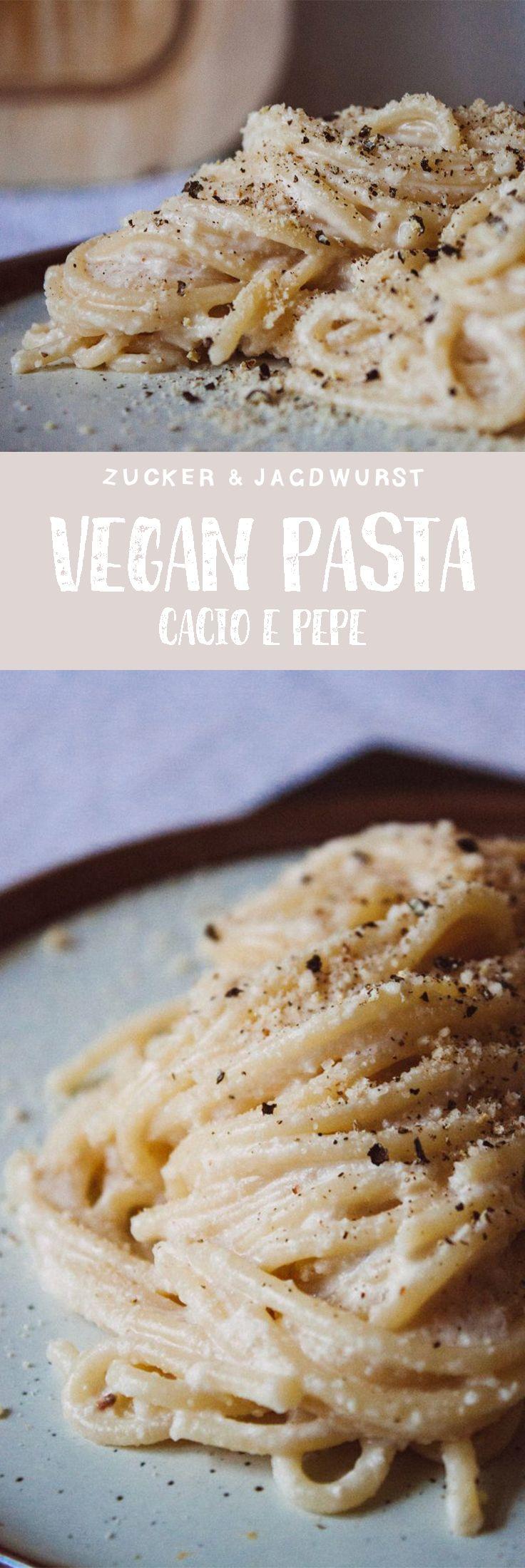 Vegan Pasta Cacio e Pepe. So creamy and yummy!