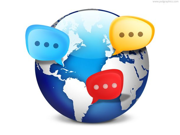 free PSD -  Global social network icon