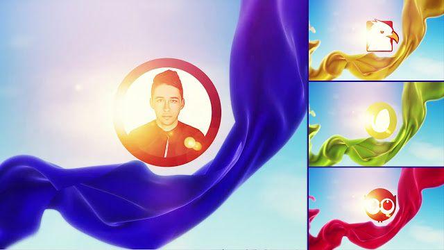 قالب أنيق يكشف شعار جميل مع نسيج القماش الطائر في السماء جاهز للتحميل مجانا لكم مشاريع أفتر إفكت Logo Reveal Visual Effects Fabric