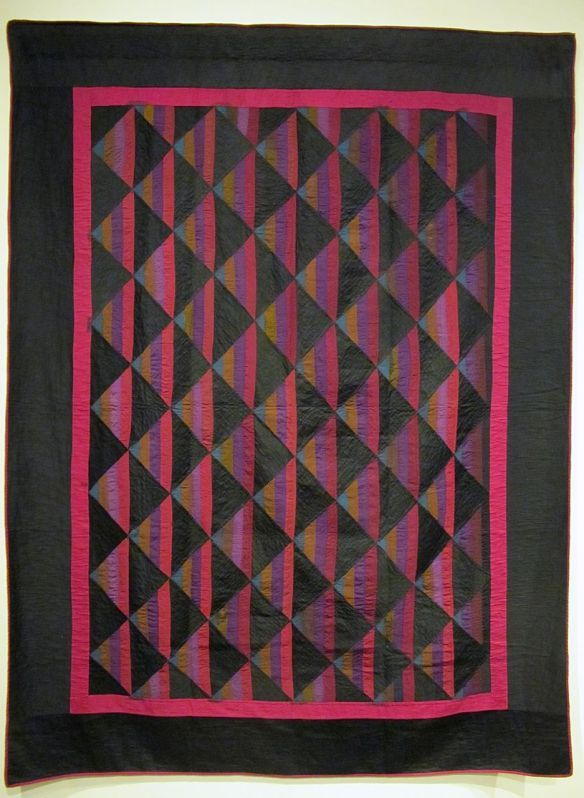Roman Stripe, Parallel Variation, c. 1900-10. Unknown maker. Holmes County. Cotton and wool.
