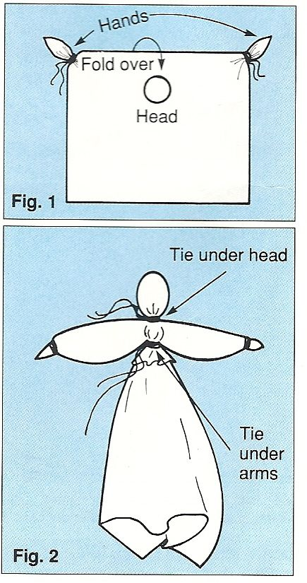 handkerchief angel tutorial