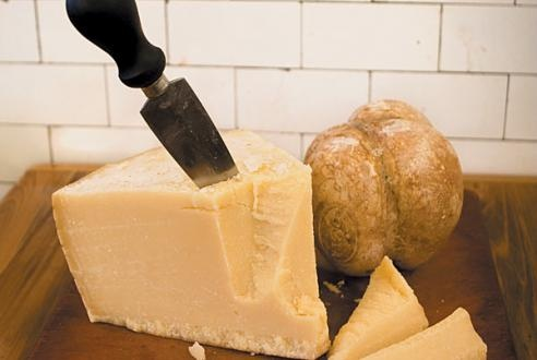 Grana Padano cheese at Quartino  Photo: Martha Williams