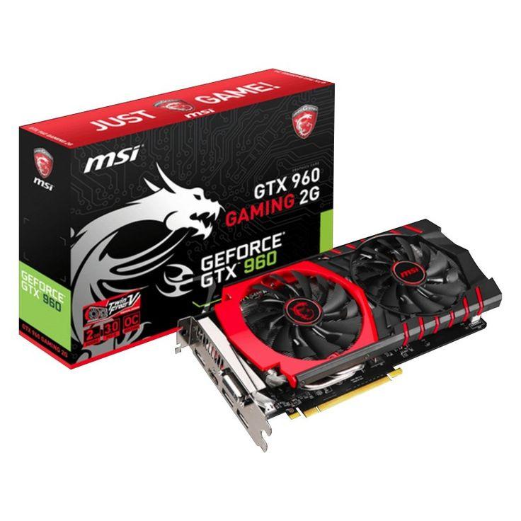MSI nVidia GeForce GTX960: Gaming PPCI-Express x16 3.0, GDDR5 2GB, 128-Bit, GPU: 1178MHz Core (Boost Clock:1241MHz) (OC Mode) / Mem:7010MHz, DVI x1, 3x DP, HDMI x1, DirectX 12 API, 4 x Displays, Dual Slot ATX, MSI TWIN FROZER V Cooler, GAMING App, PREDATOR Tool, 3D Vision Ready, 2-Way NVIDIA SLI Support : Graphics Card - Graphics Cards - Video Card - Video Cards