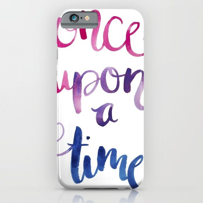 Quotes in color 'Once Upon a Time' iPhone & iPod Case by The Willow Wood Studio   Society6
