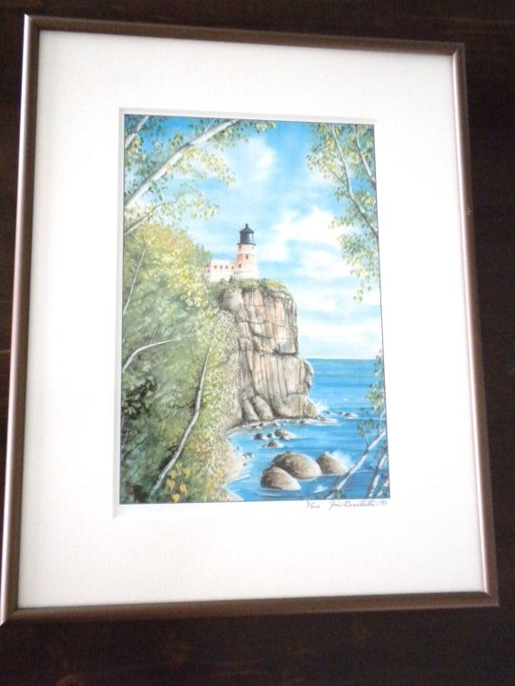 Hey, I found this really awesome Etsy listing at https://www.etsy.com/listing/179718864/a-jim-brooksher-watercolor-lighthouse-on