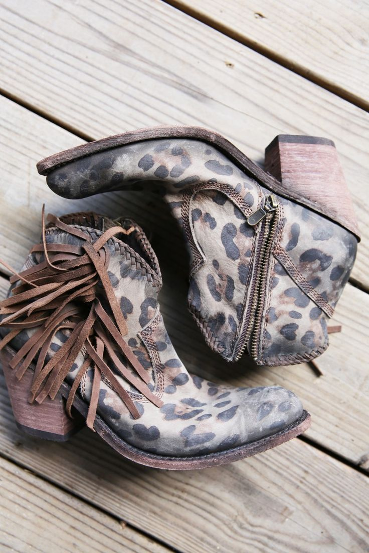 CHEETAH SHORTIES boots booties - Junk GYpSy co.