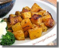 Roasted Rutabaga - First, who knew that rutabaga would be one of my favorite recipes!  This recipe is delicious.  I used 2 TBSP of oil and thought that was more than plenty.