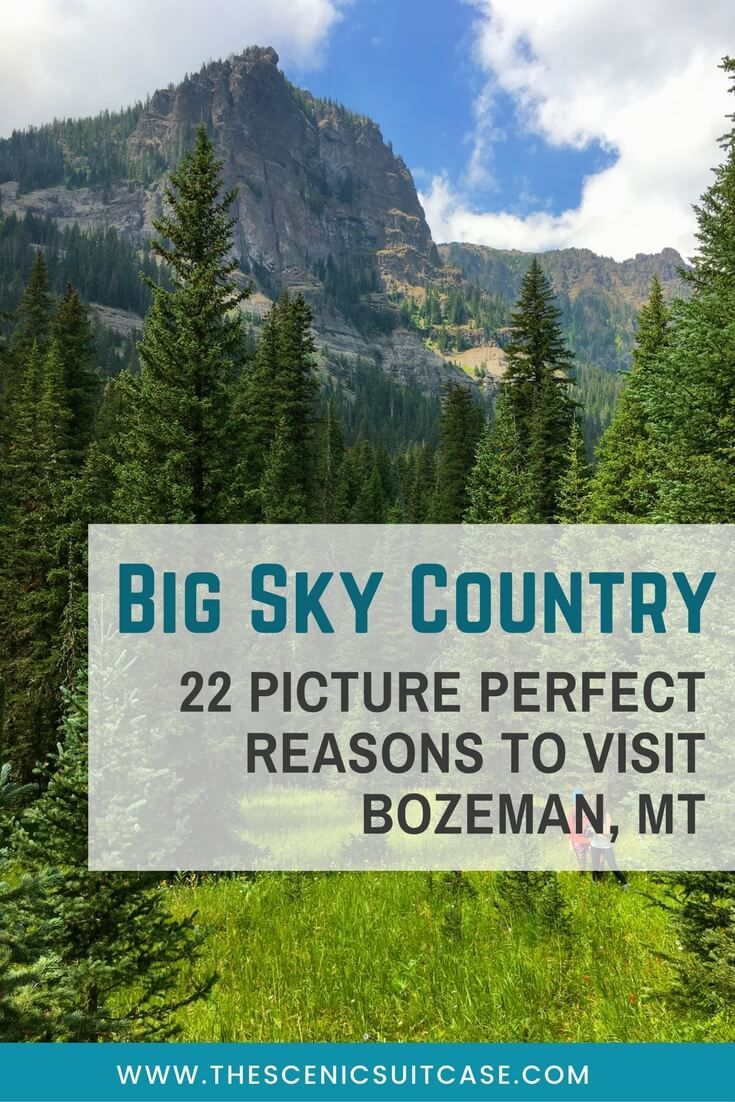 Discover 22 picture perfect reasons to visit Bozeman, Montana. And for more travel tips and wanderlust inspiration follow The Scenic Suitcase on Pinterest!