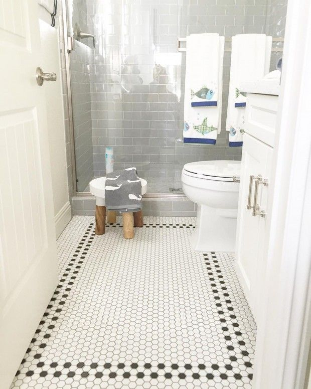 30 best images about small bathroom floor tile ideas on for Small bathroom tiles