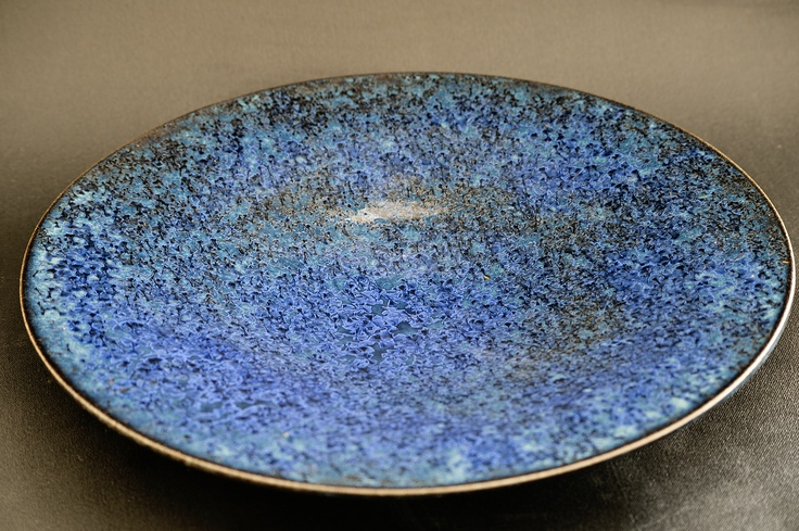 plato cristales, oxido de cobalto: Plato Cristales