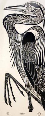 linocut prints | Found on brookgallery.co.uk