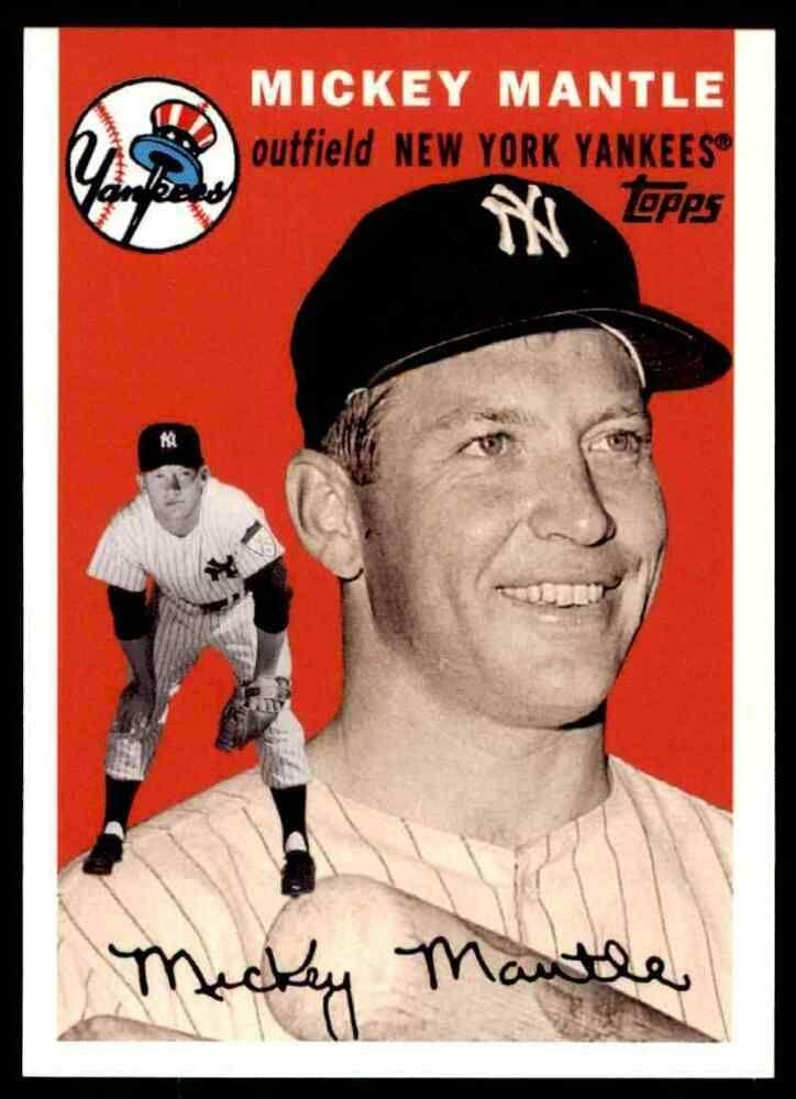 2007 Topps Baseball Mickey Mantle New York Yankees 34 Insert Newyorkyankees In 2020 Mickey Mantle New York Yankees Baseball