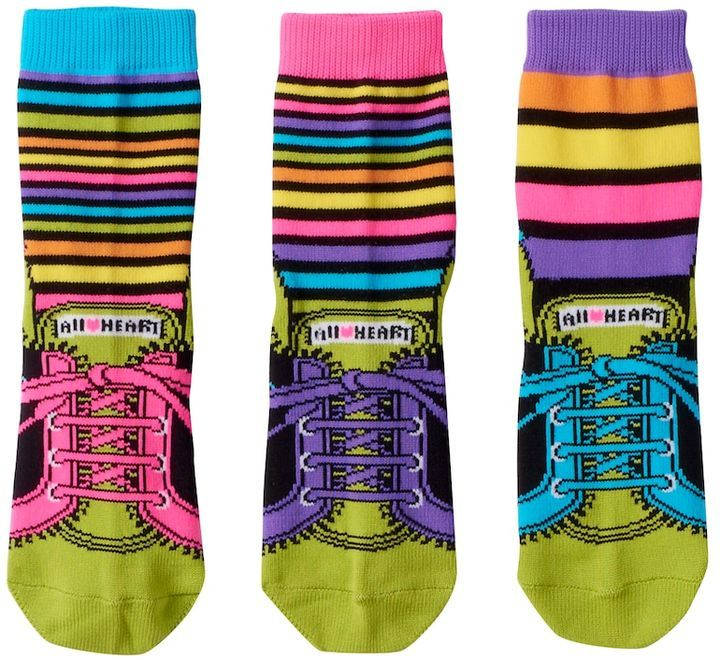 LittleMissMatched Little Miss Matched Girls 4-9 Little Miss Matched 3-pk. Sneaker Anklet Socks