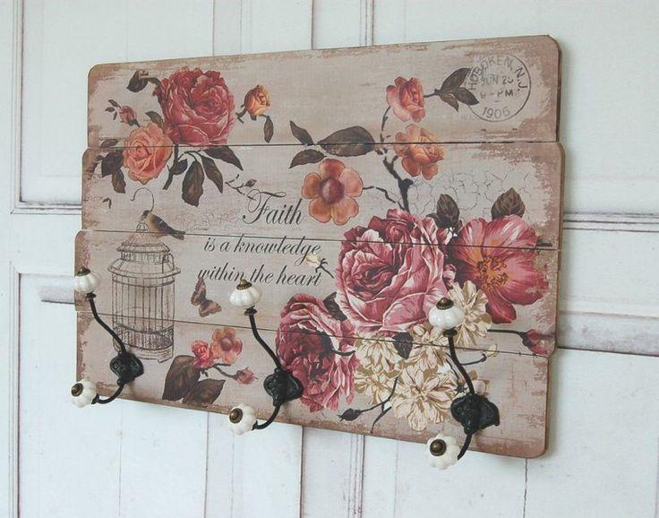 Romantyczny wieszak ścienny róża Schabby antyk w Nouvelle na DaWanda.com #niezchinzpasji