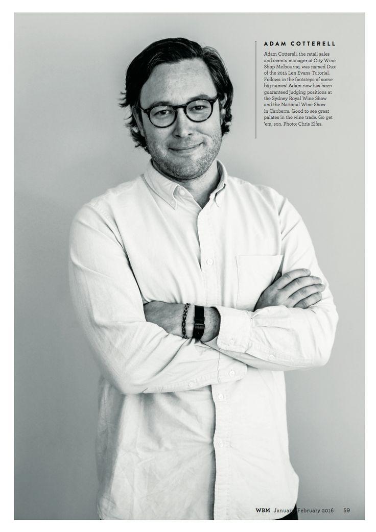 WBM Magazine January/February 2016 edition. Adam Cotterell article.