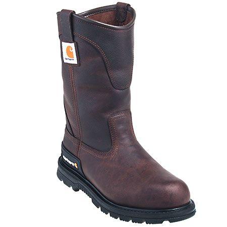 Carhartt Boots Men's Brown CMU1142 Slip Resistant EH Wellington Work B