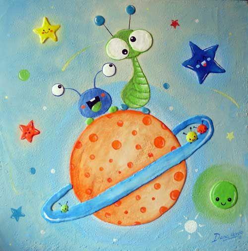 cuadro infantil planeta