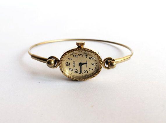 Gold vintage watch. Women's watch Women's soviet by MyTinyTree
