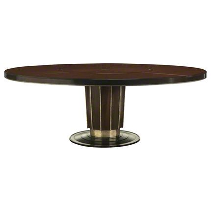 Baker Furniture Sutton Round Dining Table With Lazy Susan
