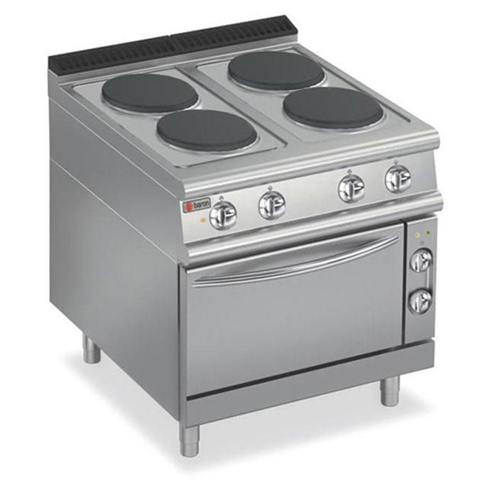 Baron 7pcf E800 4 Element With Electric Oven Kitchen Express Catering Equipment Commercial Ovens