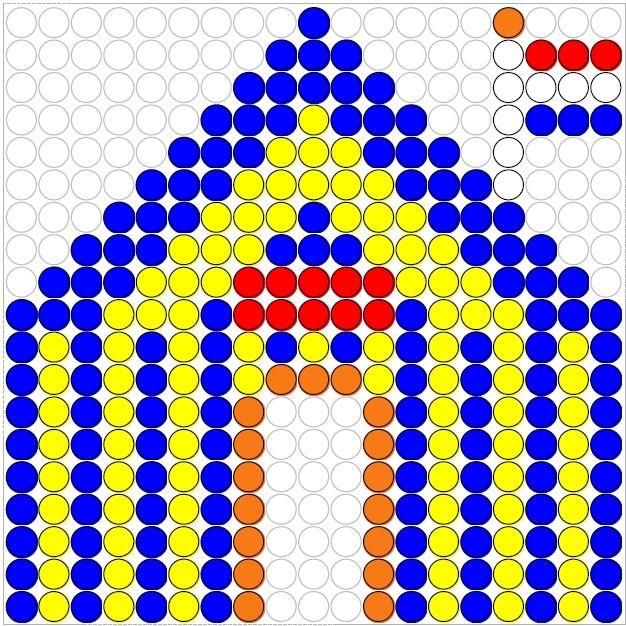 Circus perler bead pattern