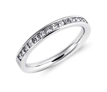 14ct White Gold Channel Set Princess Cut Diamond Ring 0.49ct £1,660.00 Truly classic, this diamond ring features fourteen princess-cut diamonds hand-set in this 14ct white gold channel band. Total diamond weight 0.49ct. Comes with a luxury gift box and free postage and packaging.