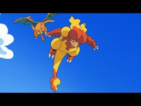 Ash S Charizard Vs Blaine S Magmar Volcanic Panic Pokemon Indigo League Season 1 Episodes