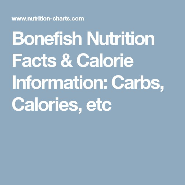 Bonefish Nutrition Facts & Calorie Information: Carbs, Calories, etc