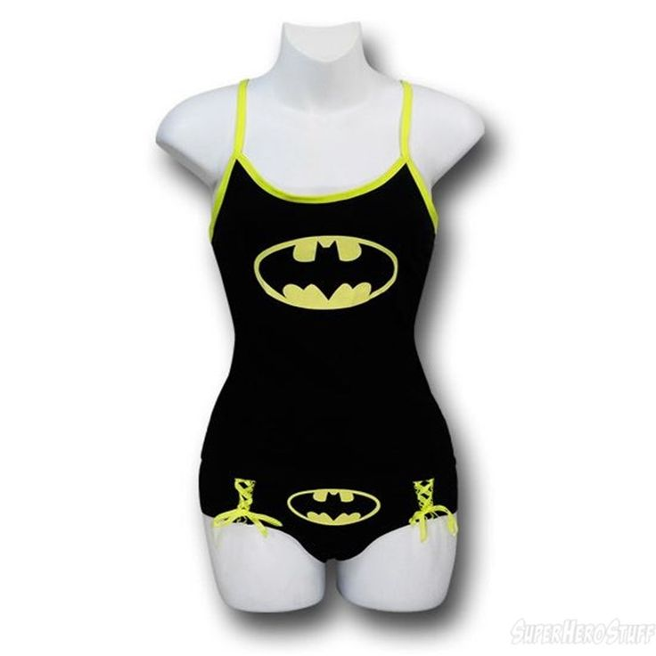 Images of Batman Women's Camisole and Panty Set Glow in Dark