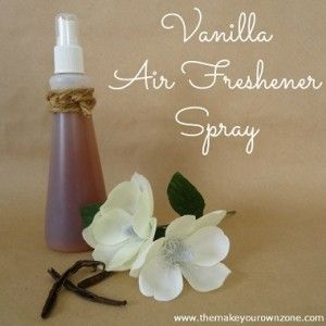 Homemade air freshener VANILLA  1 Cup Water  3 Tablespoons Imitation Vanilla Extract  Mist Bottle