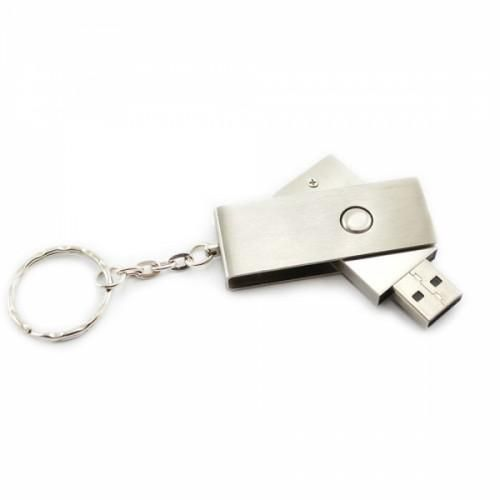 Keychain  USB Flash Drive  This metal key chain USB 2.0 flash drive has a 16GB Flash Memory Fold Pen and is a convenient, compact, and reliable Data Traveler USB Flash drive. Plenty of space here for storing your high-definition photos, graphics-intensive videos, documents etc.