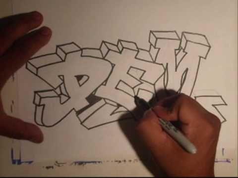 Graffiti naam tekenen